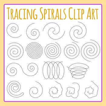 Tracing Spirals Dashed / Dotted Spirals for Fine Motor Con
