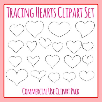 Tracing Valentines Heart Shapes for Fine Motor Control or