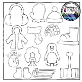 Tracing and Pinning Winter Clipart Bundle