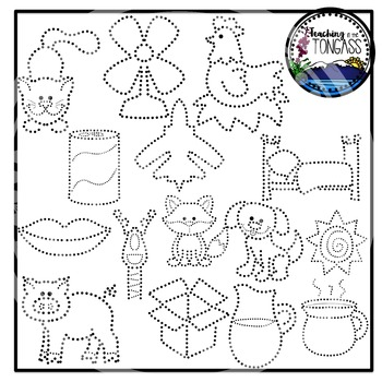 Tracing and Pinning CVC Words Clipart Bundle
