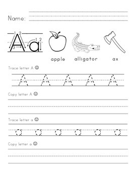 Tracing and Writing Alphabet