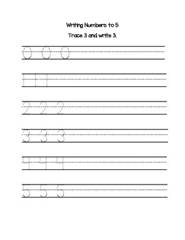Tracing and Writing Numbers to 20