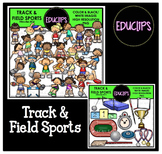 Track & Field Sports Clip Art Bundle