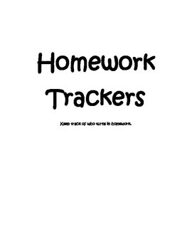 Track Homework