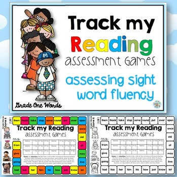 Track my Reading Fluency Assessment Games GRADE ONE Words