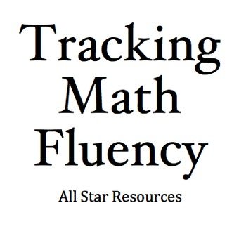 Tracking Math Fluency with Excel or Numbers