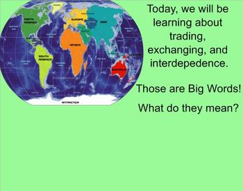 Trades and Exchanges; An Economic Smart Board Lesson