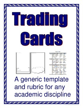 Trading Card Template - Multi-Purpose - Bulletin Board For