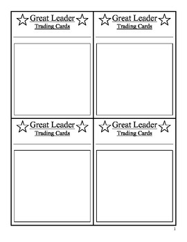 Trading Cards: Great Leaders