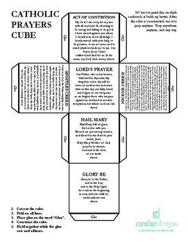 Traditional Catholic Prayer Cube