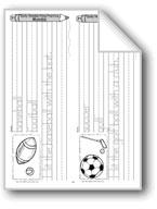 Traditional Manuscript: Sports Words (Week 31)