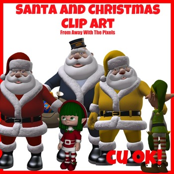 Traditional Santa / Father Christmas Clip Art -  Clipart f