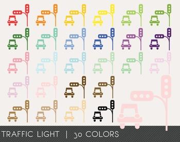 Traffic Light Digital Clipart, Traffic Light Graphics, Tra