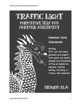 Traffic Light Formative Assessment for Self and Partner