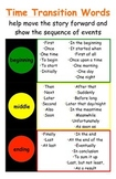 Traffic Light Time Transition Words Poster - Common Core T
