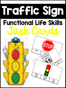 Traffic Sign Functional Task Reading Cards with IEP Goals