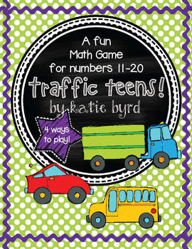 Traffic Teens A Math Game for Numbers 11-20