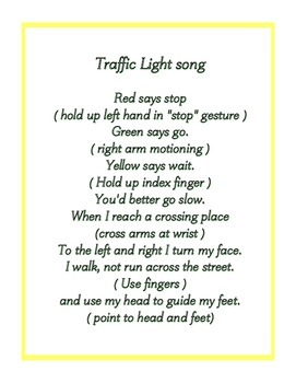 Traffic lights + Stop, Look, Listen and Think