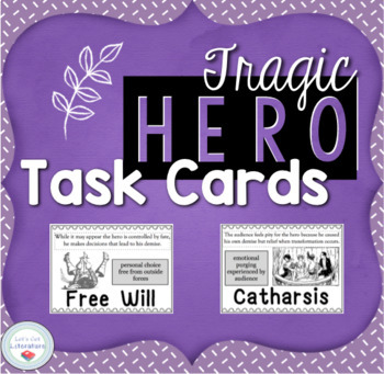 Tragic Hero Task Cards