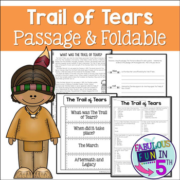 Trail of Tears: Nonfiction Passage and Foldable