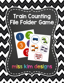 Train Counting File Folder Game for students with Autism &