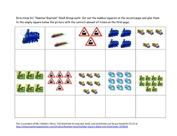 Train Counting Free Worksheet