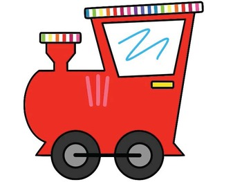 Train Decoration (Requested - Primary Colors)