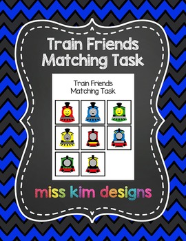 Train Friends Matching Folder Game for Early Childhood Spe