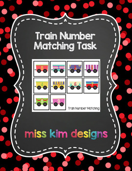 Train Number Matching Folder Game for students with Autism