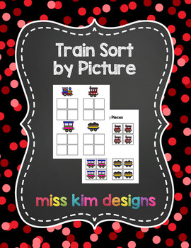 Train Sort by Picture File Folder Game for students with Autism