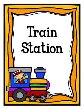 Train Station (Dramatic Play) Freebie-Color Version