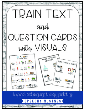 Train Text and Question Cards with Visuals