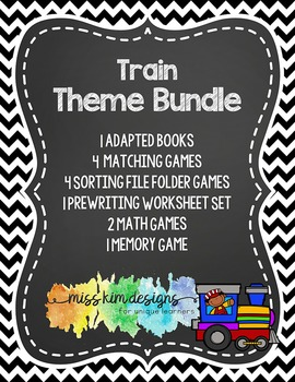 Train Theme Bundle: 13 Train Themed Products