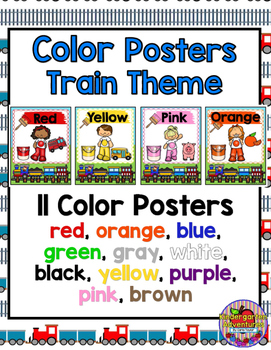 Train Theme Color Posters