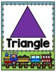 Train Theme Shape Posters