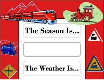 Train Weather Chart! Train Bulletin Board! Train Theme! Tr