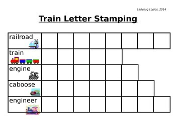 Train Words Letter Stamping