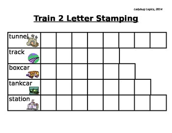 Train Words Letter Stamping 2