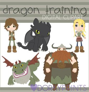 Train Your Dragon Digital Clip Art Images