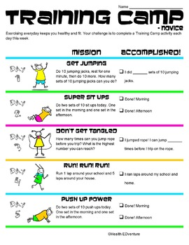 Exercise for Kids;Training Camp