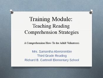 Training Module - Teaching Reading Comprehension Strategies