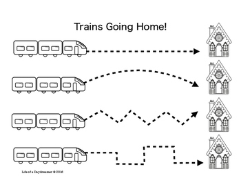 Trains Going Home! Pre-Printing Fine Motor Skills for Todd