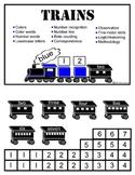 Trains file folder game