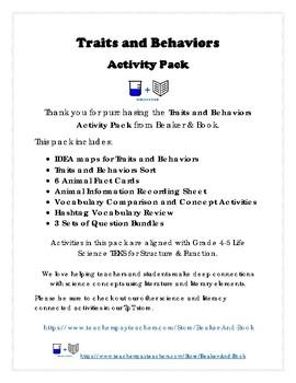 Traits and Behaviors Activity Pack