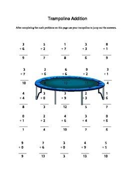 Trampoline Addition Score Key