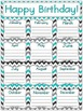 Tranquil Turquoise Birthday Posters