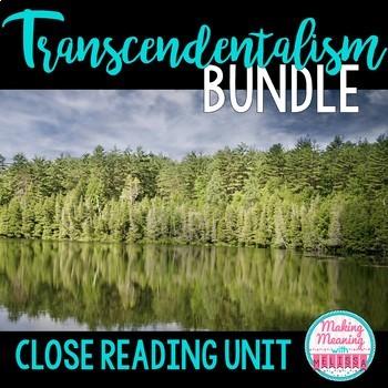 Transcendentalism Bundle - Notes, Close Reads Emerson, Tho