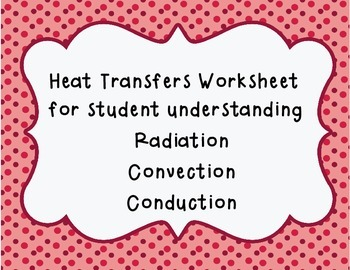 Transfer of Heat; radiation, convection, and conduction