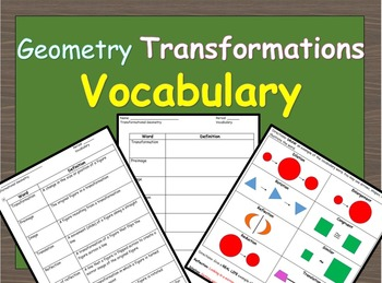 Transformational Geometry Vocabulary