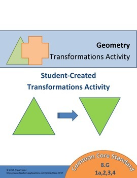Transformations Activity Math 8.G. 1 2 3 4 Students Create